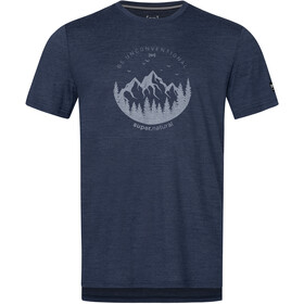 super.natural Graphic Camiseta Hombre, blue iris melange/light grey be unconventional